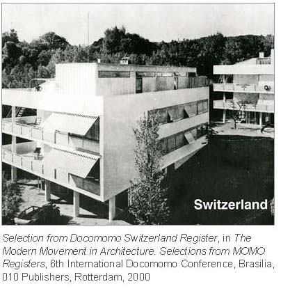 docomomo register switzerland