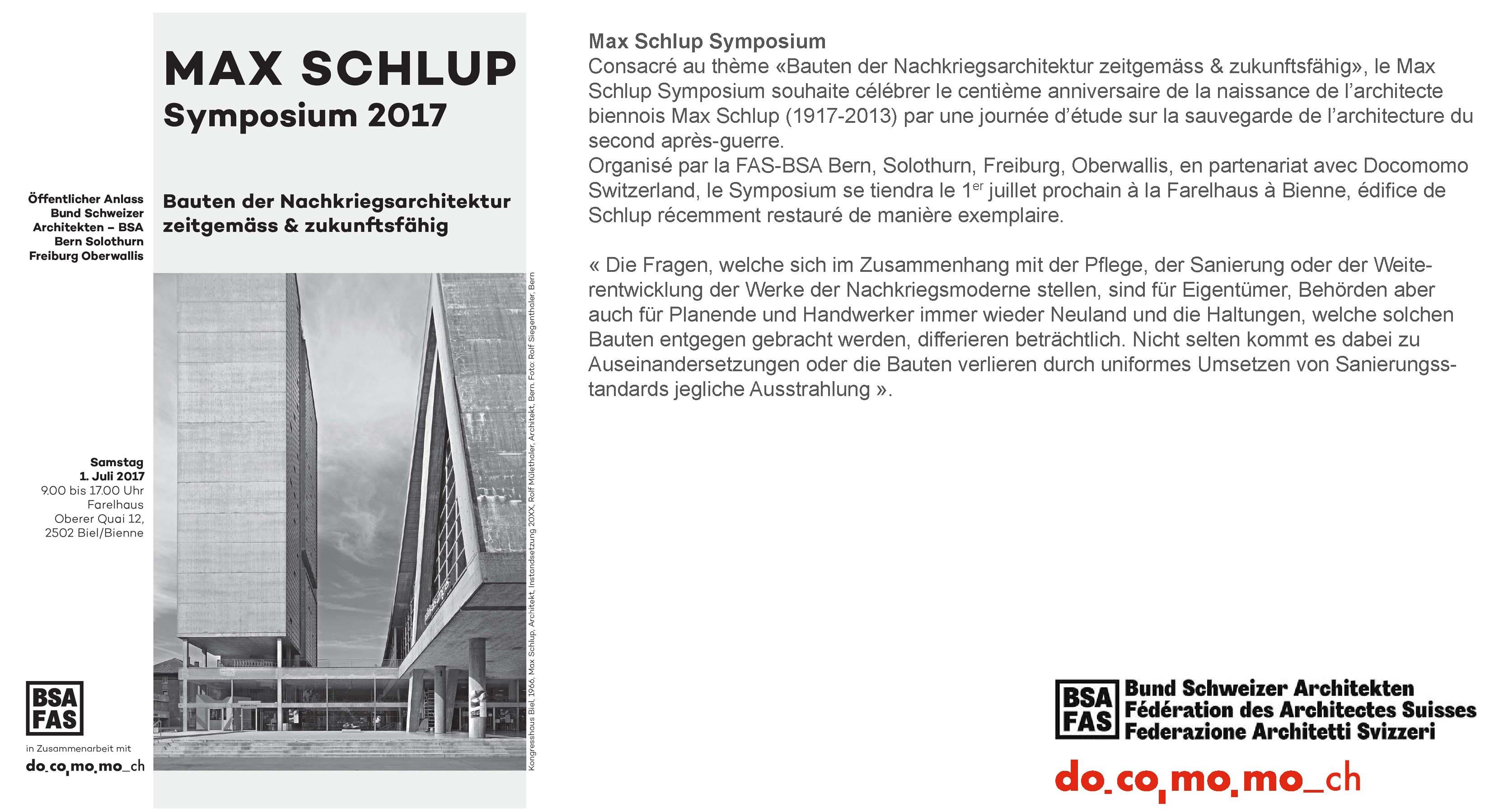 Symposium Max Schlup_news
